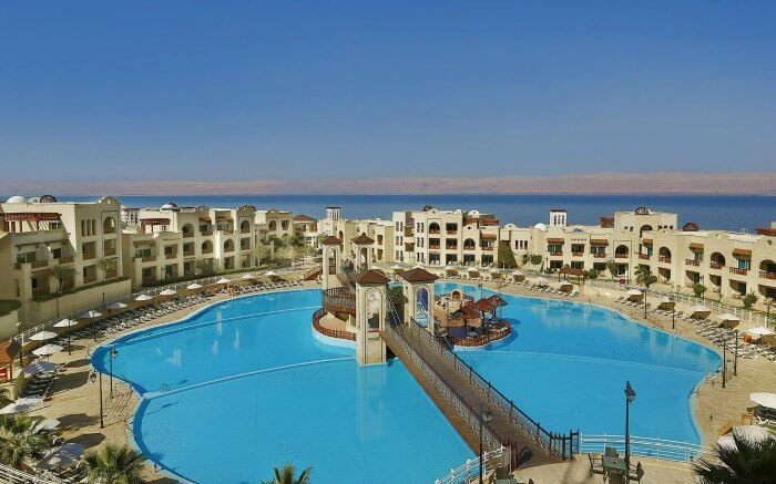 Wonderful top view of Crowne Plaza Jordan Dead Sea Resort & Spa