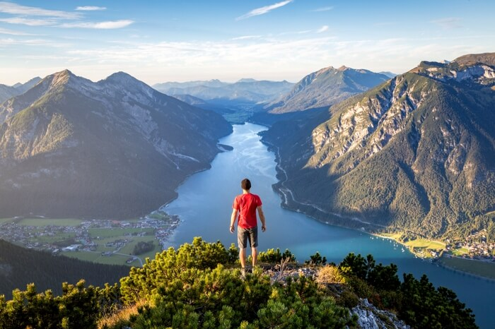 The iconic viewpoint peeping into Lake Achensee in Tyrol