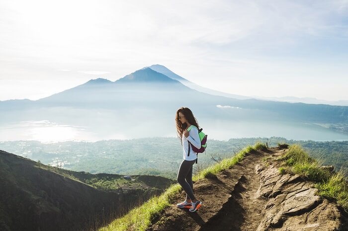 hike to mount batur, one of the best places for bali hiking tour