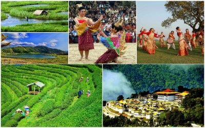 collage of the seven sisters of india