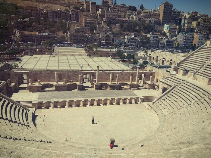 Roman Colosseum in Amman