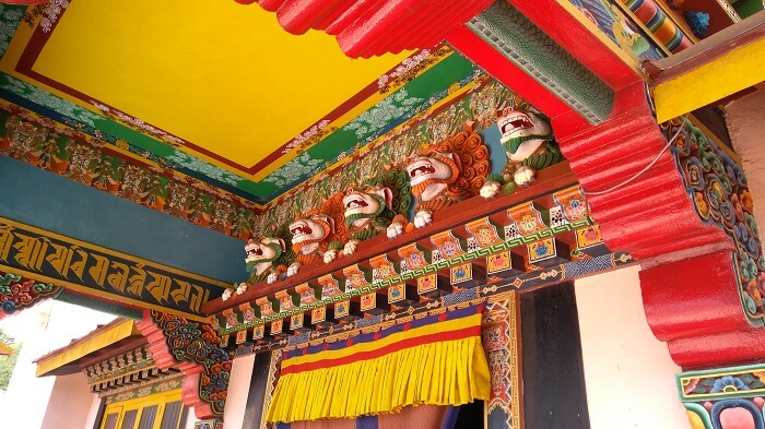 interior of monastery in gangtok