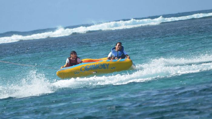 Tube ride in Mauritius
