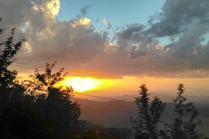 shish viewing sunset from the ridge