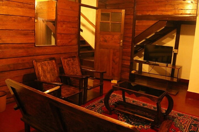 A snap of the interiors of a cottage at StayGlee homestay in Kodaikanal