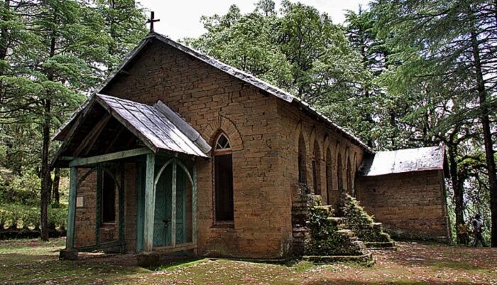 The church of Abbott Mount in Uttarakhand