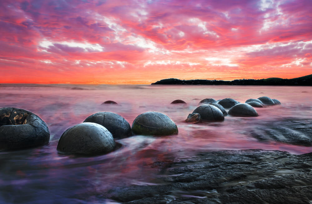 Moeraki Boulders on the shores
