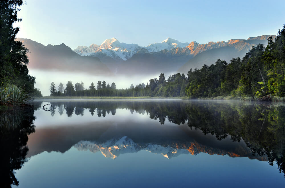 misty Lake Matheson