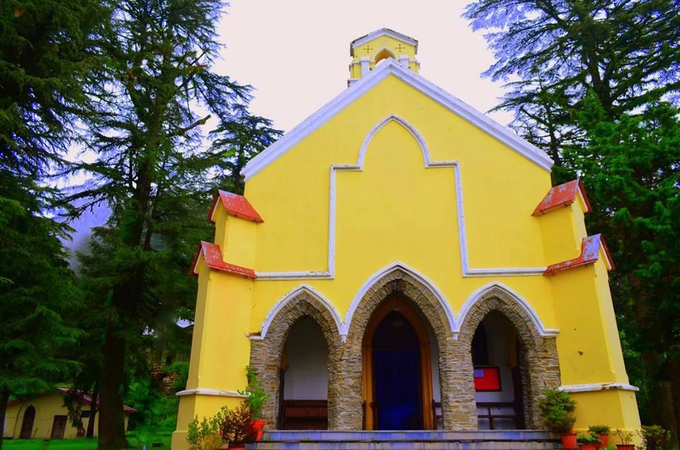 a beautiful old church in Landour