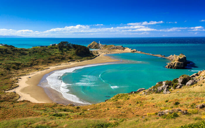 A beach in New Zealand