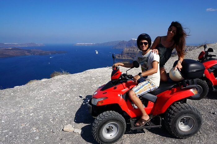 atv tour in santorini
