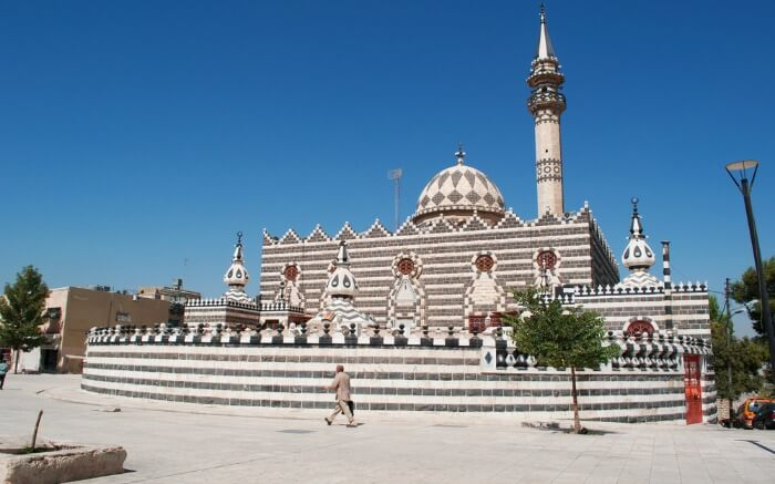 Abu Darwish Mosque on a bright and beautiful day
