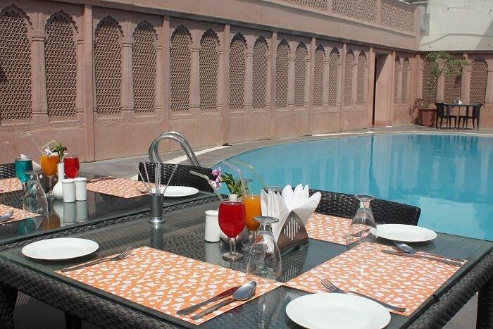 Amargarh Resort by TGS pool