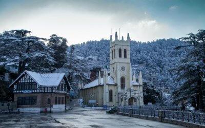 Christ Church in Shimla during winter