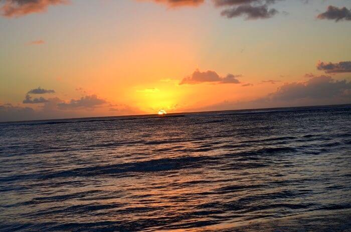 sunset at ile aux cerfs