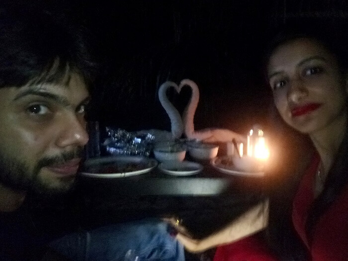 romantic dinner in andaman
