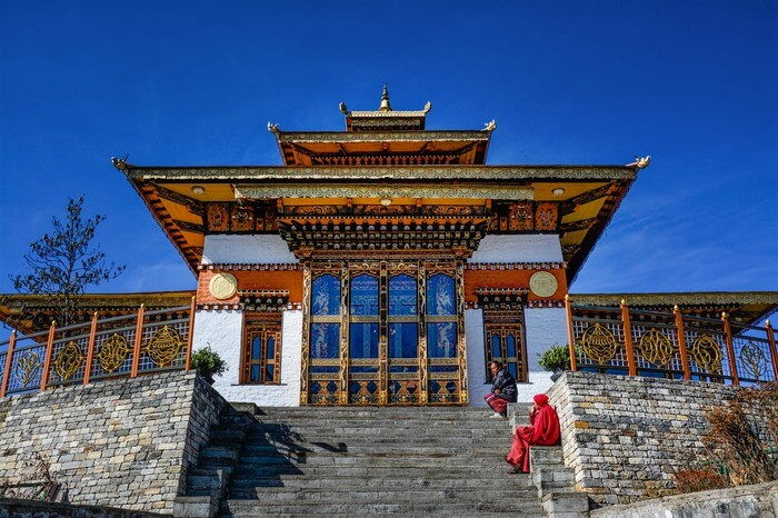 a gorgeous Bhutanese temple at Dochula Pass