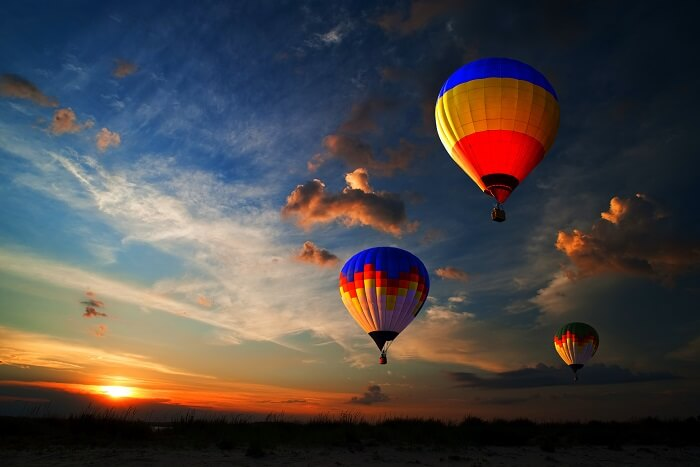 go hot air ballooning in dubai