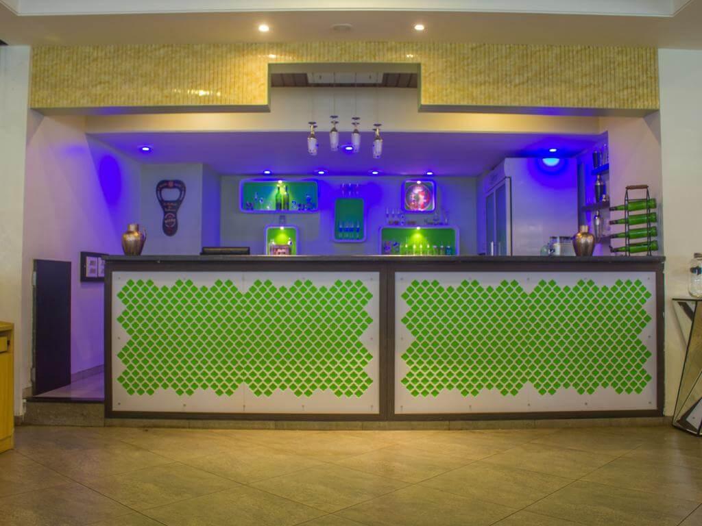 beautiful reception area of a resort in Saputara