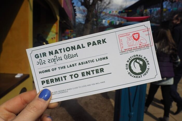 entry permit for gir park