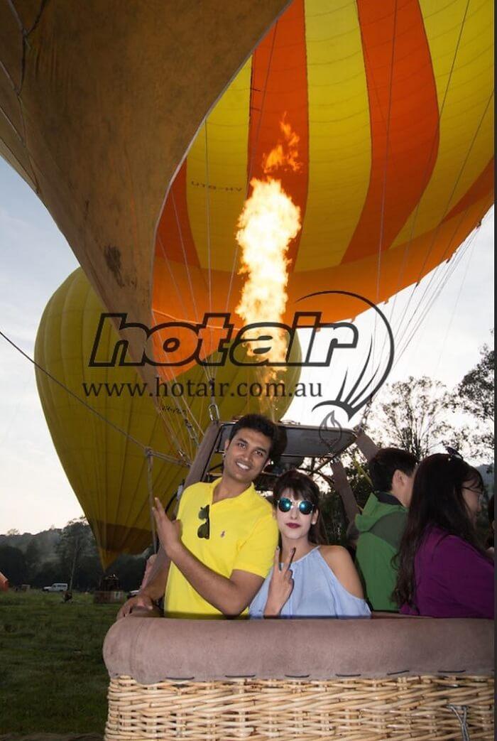 hot air balloon ride in godlcoast