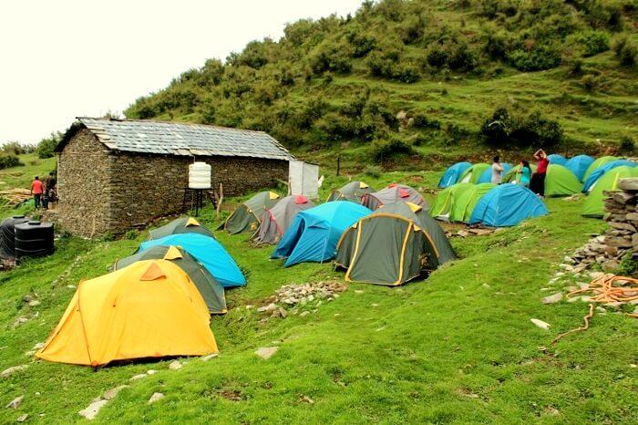 campsite in bir billing