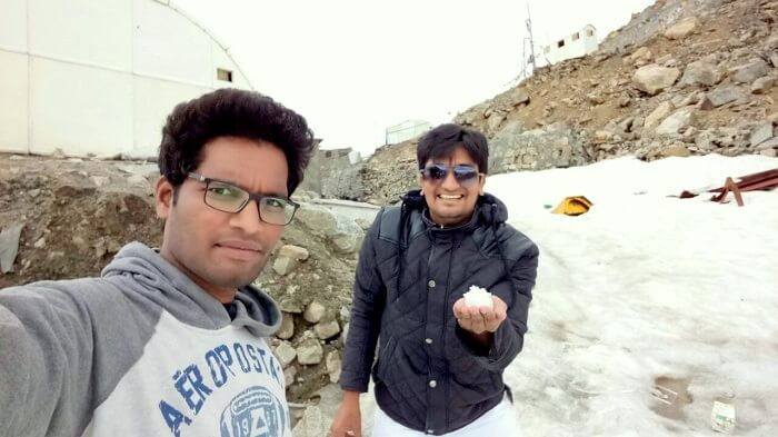 snowfall in leh