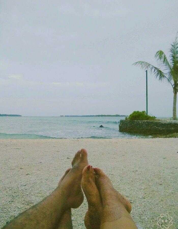 ambuj rashmi exploring maldives beach