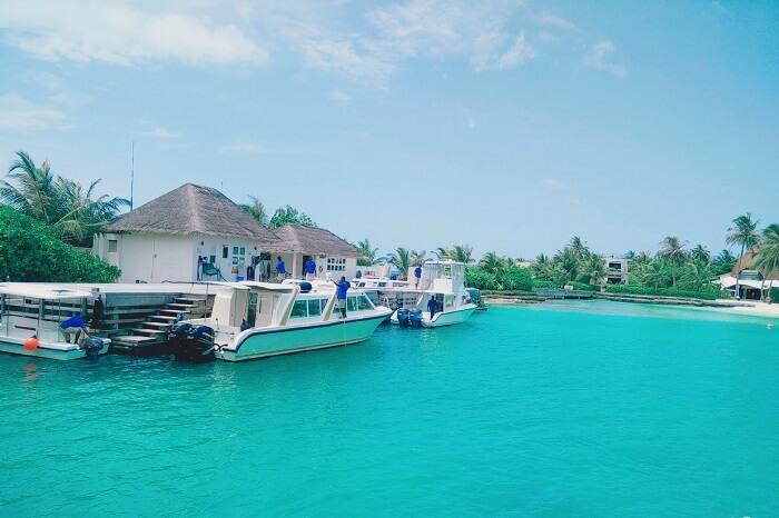 ambuj rashmi in maldives dock