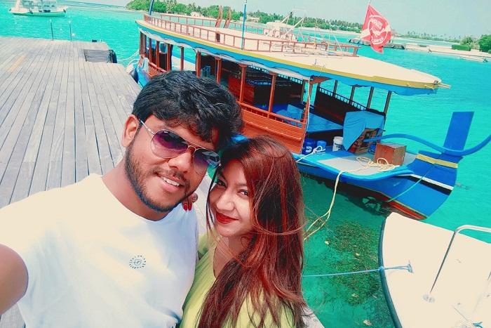 ambuj rashmi maldives honeymoon trip