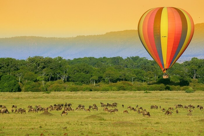 go hot air ballooning in Kafue National Park