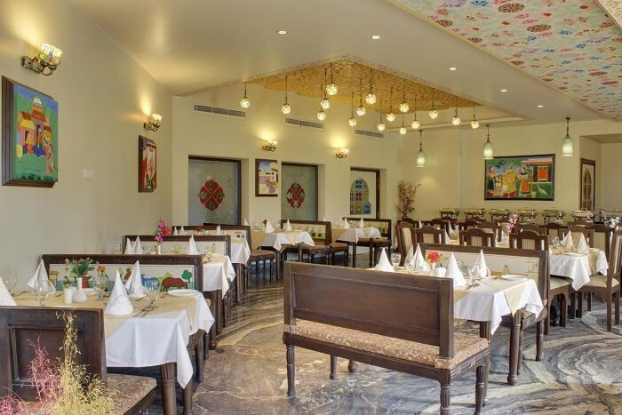 Marugarh Venture Resort Jodhpur dining area