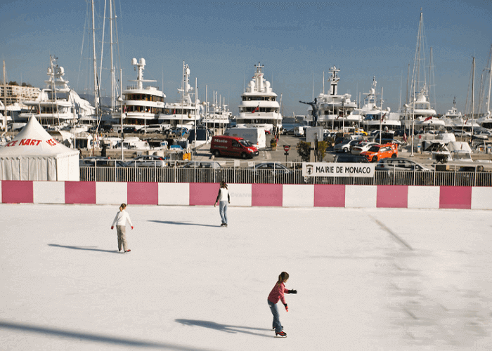 Ice-skating in Monaco