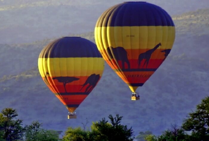 go hot air ballooning at Pilanesberg