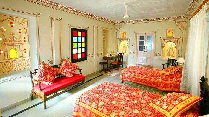 Rohet Garh Resort room