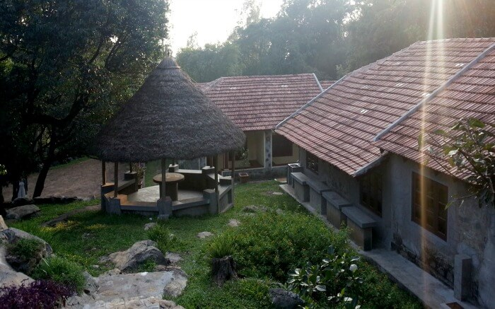 Side view of Fairholme Bungalow homestay in Yercaud in Tamil Nadu