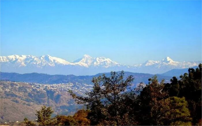 Snow covered mountains in Ranikhet