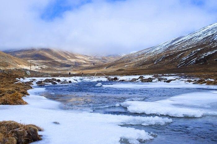 Teesta river in winters