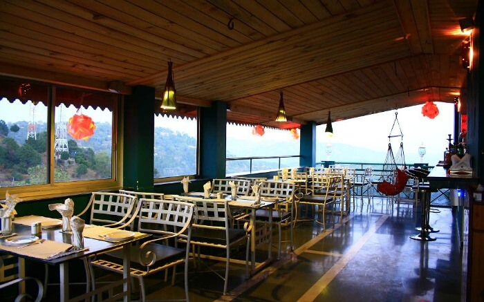 Terrace cafe of Kasauli Regency hotel