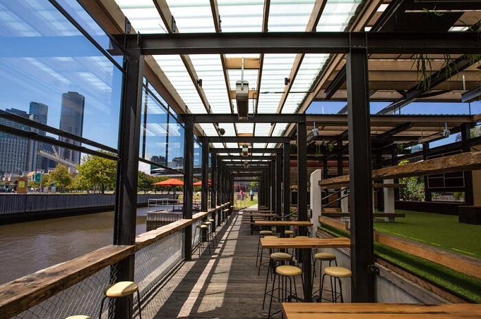 enjoy riverside dining at the boatbuilders yard