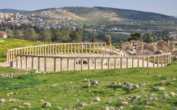 The massive archaeological site of Jerash