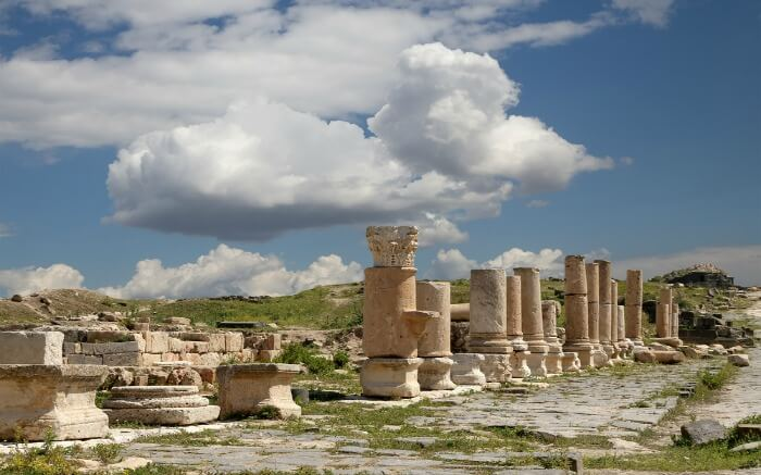 The picturesque Roman ruins at Umm Qais