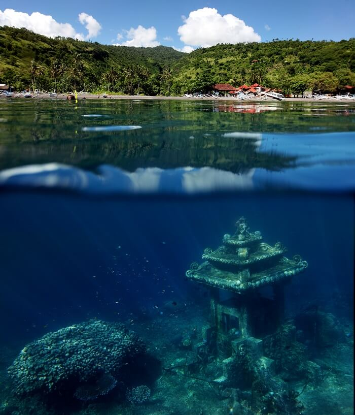 underwater temple in bali