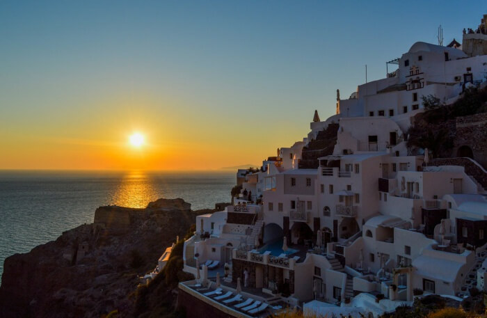 Magical Sunset In Santorini