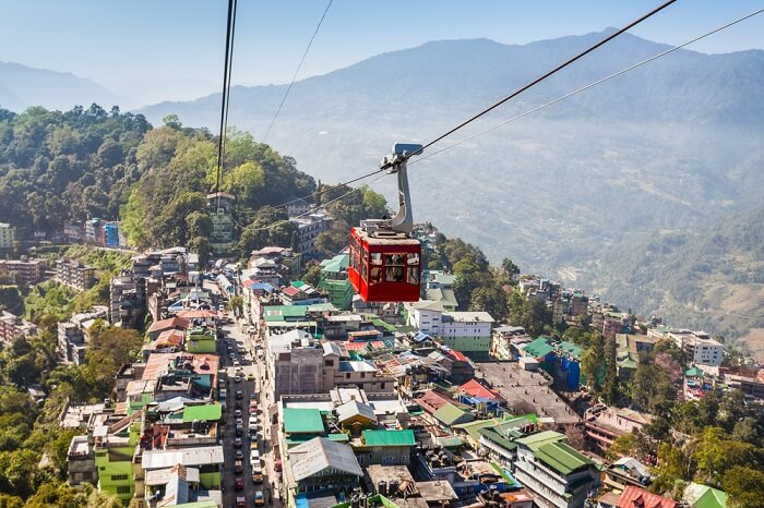 ride the gangtok cable car
