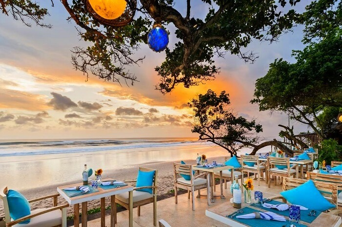 visit the charming cafes of seminyak beach