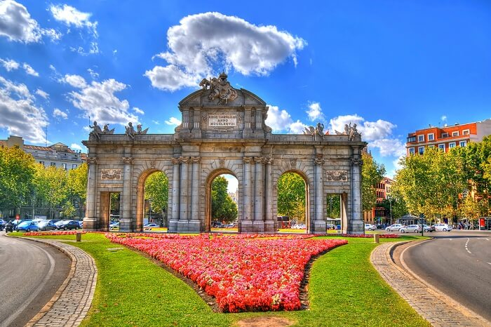 Colorful image of Puerta de Alcala in Madrid
