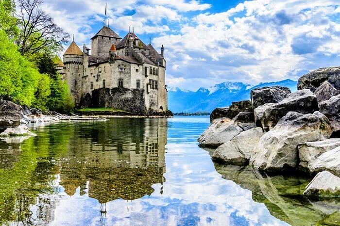 Chateau de Chillon near Montreux in Switzerland