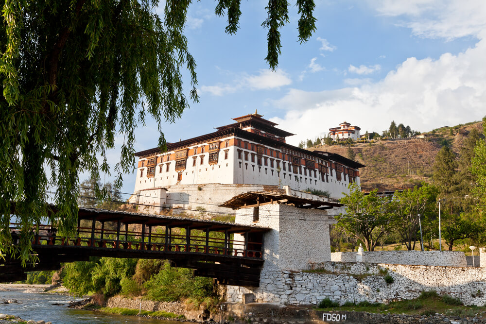 a beautiful ancient monastery in Bhutan