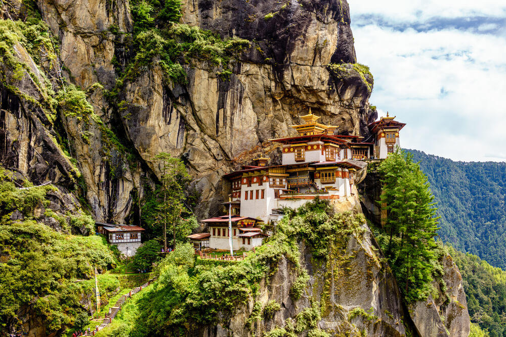 the beautiful monastery in Tiger Hill